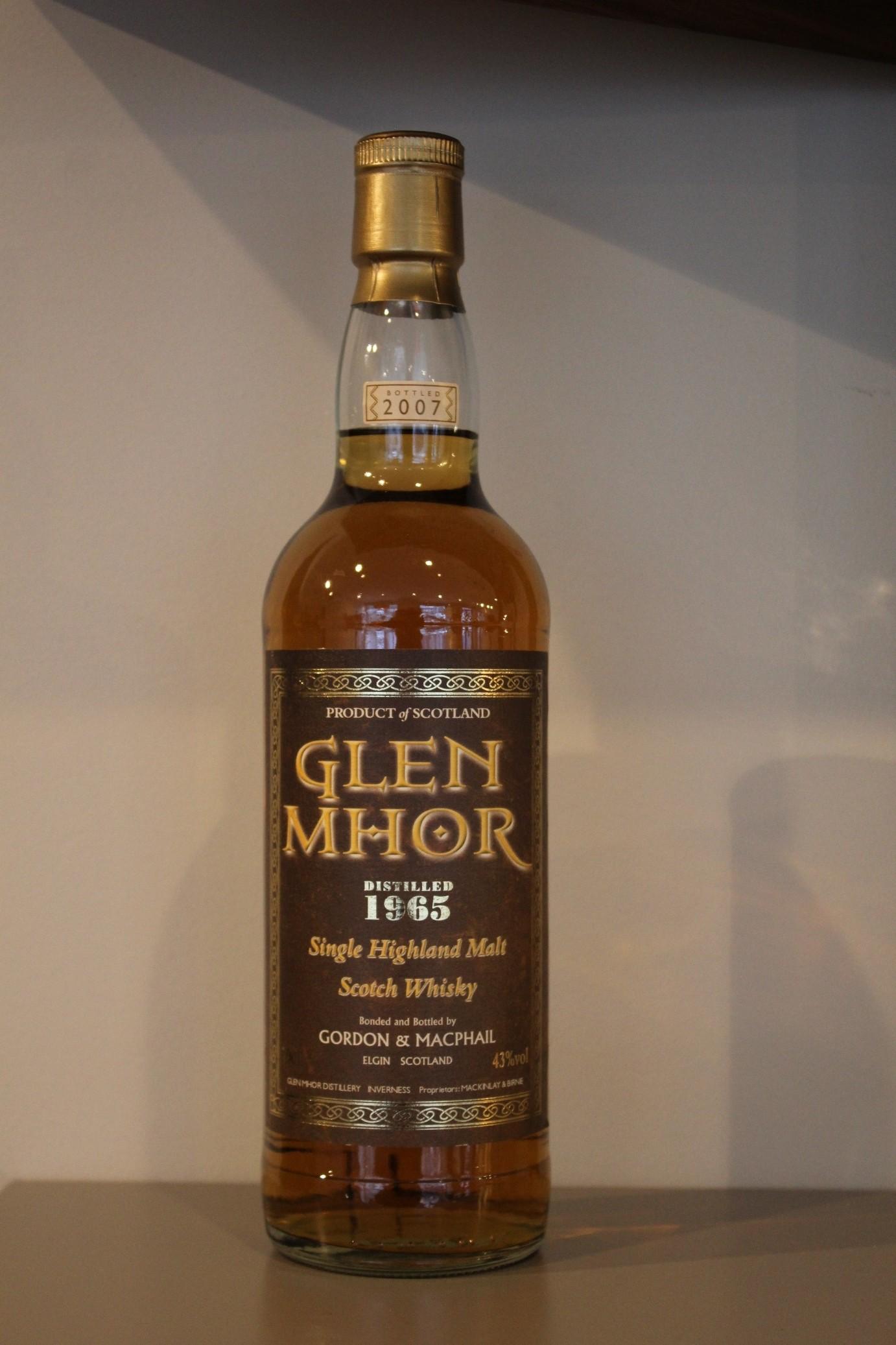 GLEN MHOR 1965 GORDON & MACPHAIL / SCOTLAND